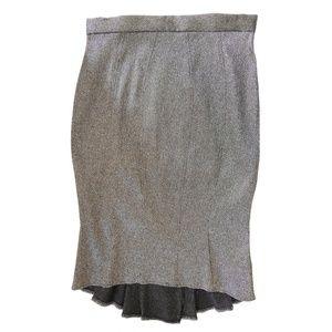 NEW Prairie Wind/Black Pleated Back Pencil Skirt